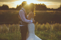 golden hour wedding