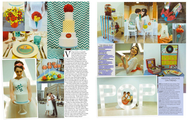 You & Your Wedding We Love Modern Vintage Editorial ~ July/ August 2014