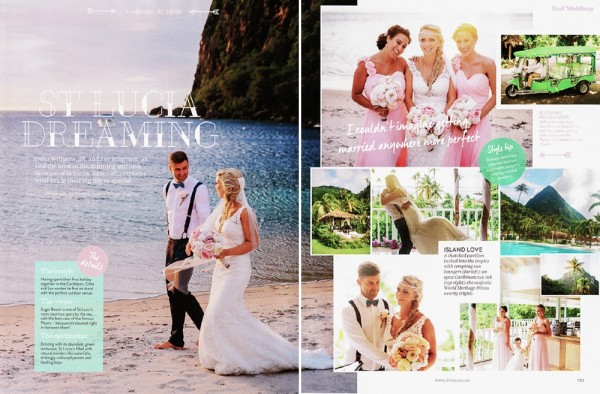Published ~ Osha & Lee ~ Sugar Beach, St Lucia Caribbean Wedding